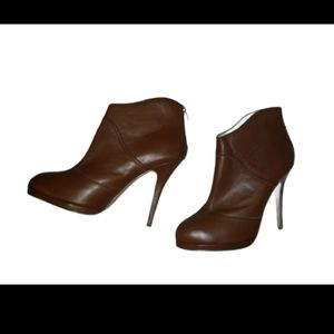 leather tan color size 10 ankle boots